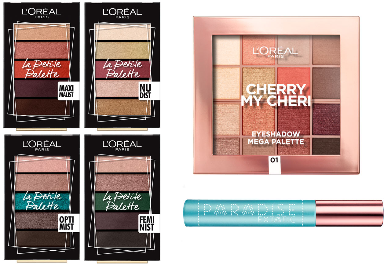 L'Oréal Paris La Petite Palette, L'Oréal Paris Cherry My Cheri, L'Oréal Paris Paradise Mascara Waterproof